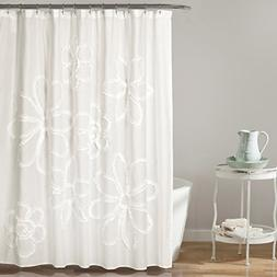 "Lush Decor Décor Ruffle Flower Shower Curtain, 72"" x 72"", W"
