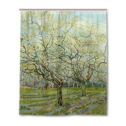 JSTEL Decor Shower Curtain Van Gogh Museum Pattern Print 100