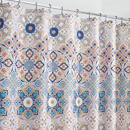 mDesign Decorative Medallion Print, Easy Care Fabric Shower