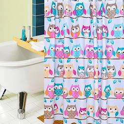 BBOLIVE Decorative Mildew Free PEVA 5 Gauge Shower Curtain L