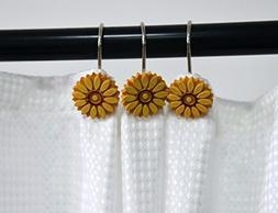 A.Monamour Decorative Shower Curtain Hooks Rustproof Smooth