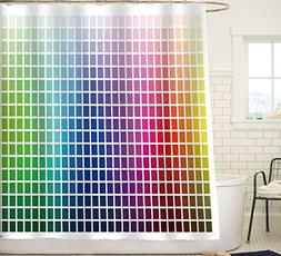 Sunlit Designer Essential Decor Color Chart Fabric Shower Cu