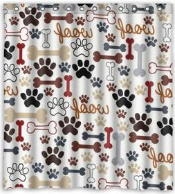 Hot Sale Dog and Dog Paw Prints Theme 100% Polyester Picture