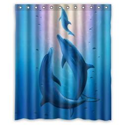 High Quality And New Fashion Dolphin Shower Curtain