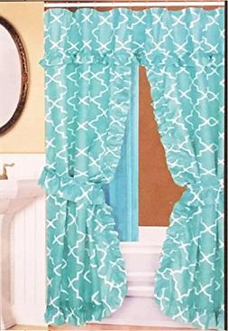 Better Home Double Swag Fabric Shower Curtain/12 Coordinated