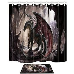 dragon and cave shower curtain 69x70 shower