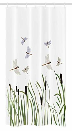 Ambesonne Dragonfly Stall Shower Curtain by, Flying Small Dr