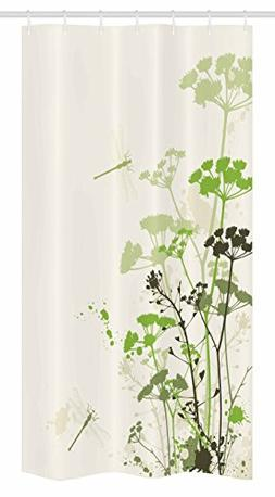 Dragonfly Stall Shower Curtain by Ambesonne, Minimalist Foli