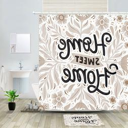 Dreamy Sweet Home Flower Shower Curtain Bathroom Decor Fabri