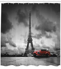 Eiffel Tower Shower Curtain Romantic Parisian Landmark 84 In
