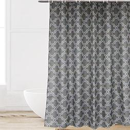 Eforcurtain Elegant Charcoal Fabric Water Repellent Shower C
