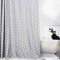 BAIHT HOME Elegant Geometric Fabric Polyester Shower Curtain