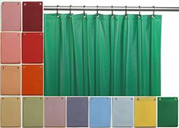 Elegant Home Heavy Duty Vinyl Shower Curtain Liner with 12 M