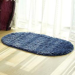 Oval Shape Bathroom Rug, Uphome Elegant Microfiber Non-slip