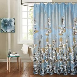 Elegant Orchids Polyester Fabric Bath <font><b>Curtain</b></