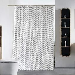 S·Lattye Elegant Shower Curtain Liner Water Repellent Fabri