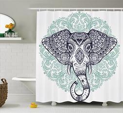 Ambesonne Elephant Mandala Shower Curtain by, Ethnic Indian
