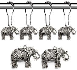 Aitian Elephant Shower Curtain Hooks Rings - Animal Pendant