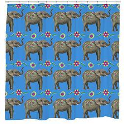 Elephant Shower Curtain, Indian Bathroom Decor, Boho Tapestr