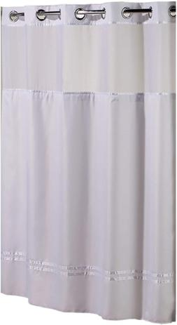 Hookless HBH40MYS0101SL77 Escape Shower Curtain With Snap In
