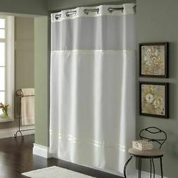 Escape Stall Fabric Shower Curtain and Liner Set - Ivory - S
