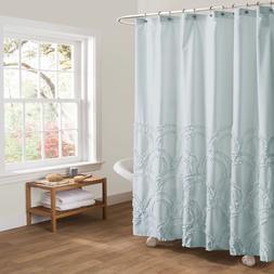Lush Decor Esme Ruffle Shower Curtain  Spa Blue
