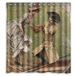 TonyLegner The European Court Art Painting Shower Curtains O