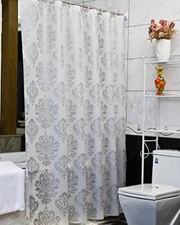 Eforcurtain Small 36x72Inch European Damask PEVA Shower Curt