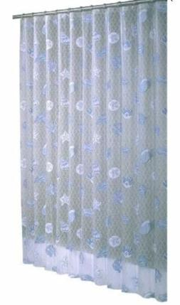 Ex-Cell Home Fashions Seaside Shower Curtain, Blue