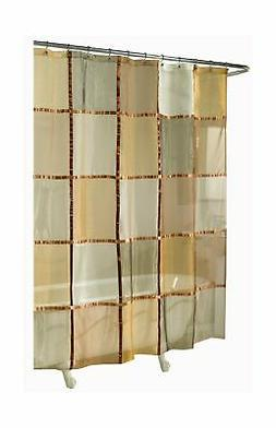Ex-Cell Home Fashions Mosaic Fabric Shower Curtain, Terracot