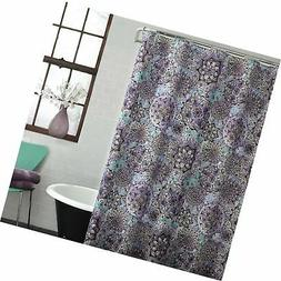 Ex-Cell Ode to Geode Fabric Shower Curtain, 70 by 72-Inch