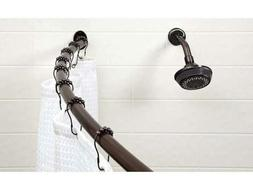 Bath Bliss Expandable 42 to 72-inch Curved Shower Curatin Ro