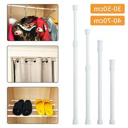 Extendable Shower Curtain Rod/Pole Telescopic Spring Tension