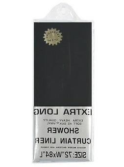 "EXTRA LONG 5-gauge VInyl Shower Curtain Liner: 72"" W x 84"" L"