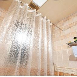 Aoohome 36x72 Inch Shower Curtain Liner, EVA 3D Water Cube S