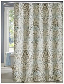 LanMeng Extra Long Fabric Shower Curtain, Classic Paisley De