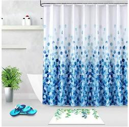 LanMeng Extra Long Fabric Shower Curtain, Elegance Luxury fo