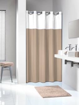 Extra Long Hookless Shower Curtain 72 x 78 Inch Sealskin Dop