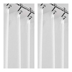 mDesign Extra Long Tall Light Weight Waffle Weave Polyester