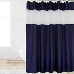 Eforcurtain Small Stall Size Unique Navy Blue Polyester Show
