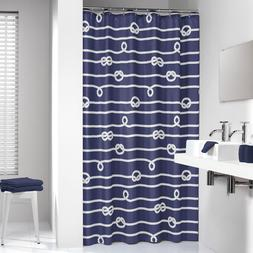 Extra Long Shower Curtain 72 x 78 Inch Sealskin Nautical Rop