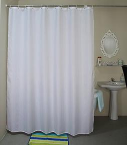 Extra Long Shower Curtain for Bathroom Water Repellent Fabri