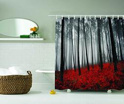 Ambesonne Fabric Shower Curtain Farmhouse Country Home Woodl