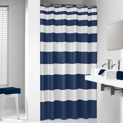 Extra Long Shower Curtain 72 x 78 Inch Sealskin Nautica Stri