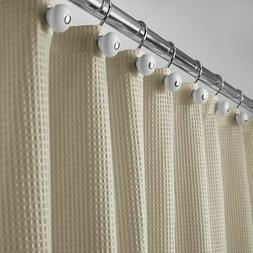mDesign EXTRA LONG Waffle Weave Fabric Shower Curtain - 72""