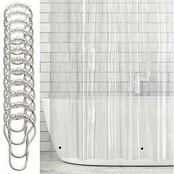 MDesign Extra Long Waterproof, Heavy Duty Shower Curtain, Li