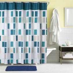 Extra Simple Shower Curtain Set Modern Grid Bathroom Curtain
