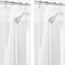 "mDesign LONG PEVA Shower Curtain Liner for Bath, 72"" x 84"""