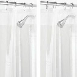 """mDesign LONG PEVA Shower Curtain Liner for Bath, 72"""" x 84"""","""