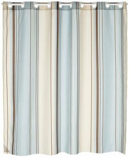 Carnation Home Fashions EZ On Fabric Shower Curtain, Blue St